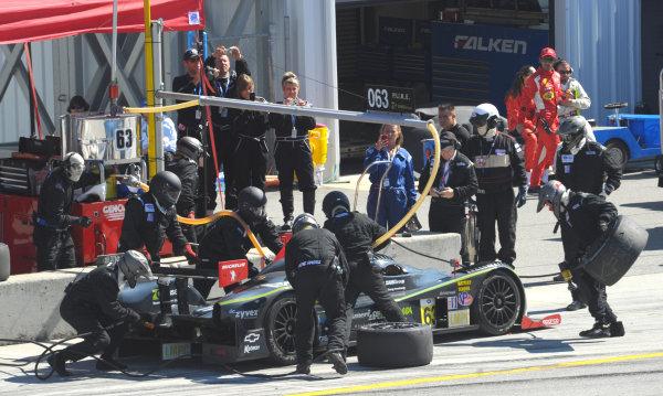 16-18 September, 2011, Monterey, California USA#63 Genoa Racing Oreca FLM09 pitstop.(c)2011,  Dan R. Boyd  LAT Photo USA
