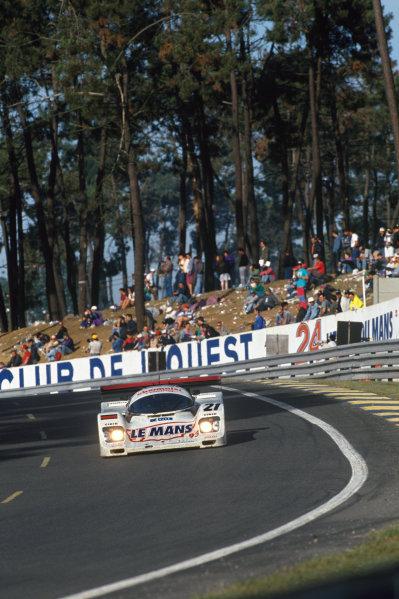 Le Mans, France. 19th - 20th June 1993.Otto Altenbach/Jurgen Oppermann/Loris Kessel (Porsche 962C), 7th position, action. World Copyright: LAT Photographic.Ref:  93LM11.