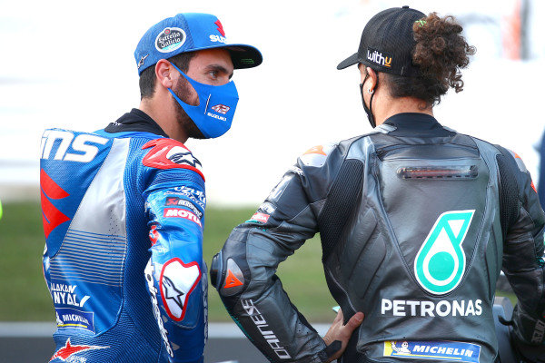 Alex Rins, Team Suzuki MotoGP, Franco Morbidelli, Petronas Yamaha SRT