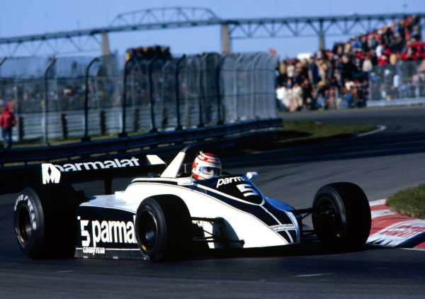 1980 Canadian Grand Prix.Montreal, Quebec, Canada.26-28 September 1980.Nelson Piquet (Brabham BT49 Ford).World Copyright - LAT Photographic