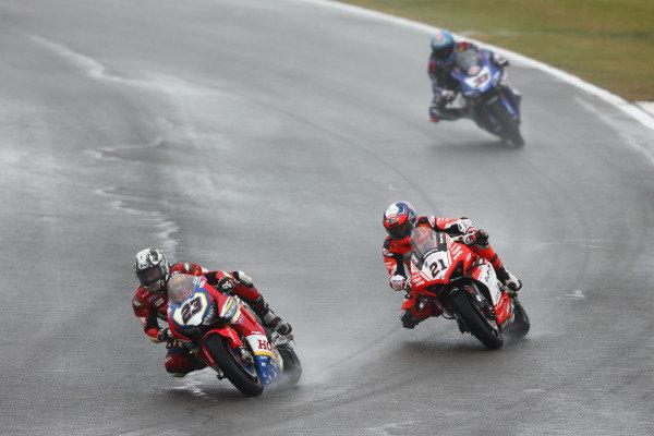 Ryuichi Kiyonari, Honda WSBK Team, Michael Ruben Rinaldi, Barni Racing Team, Marco Melandri, GRT Yamaha WorldSBK.