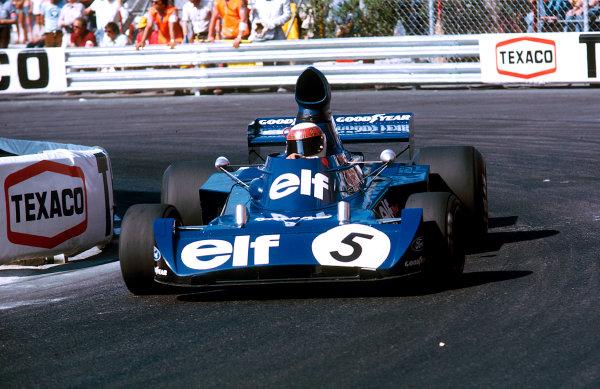 1973 Monaco Grand Prix.Monte Carlo, Monaco.31/5-3/6 1973.Jackie Stewart (Tyrrell 006 Ford) 1st position.Ref-73 MON 55.World Copyright - LAT Photographic
