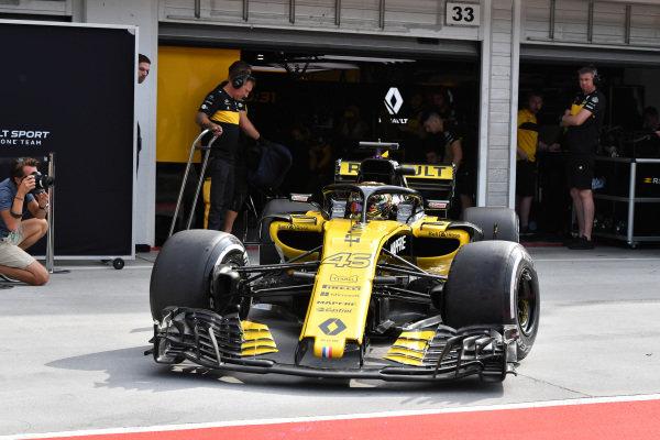 Artem Markelov (RUS) Renault Sport F1 Team RS18