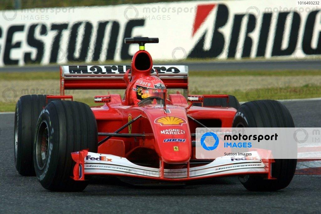 Michael Schumacher(GER) Ferrari F1 2001 Japanese Grand Prix, Suzuka 13 October 2001. DIGITAL IMAGE