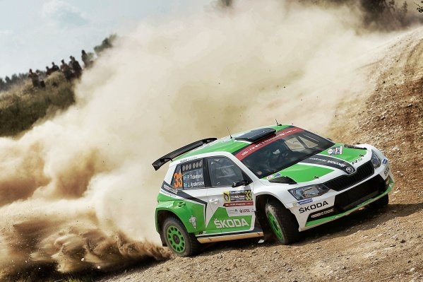 Pontus Tidemand (SWE) / Jonas Andersson (SWE), Skoda Motorsport Fabia R5 WRC2 at FIA World Rally Championship, Rd7, Rally Poland, Preparations and Shakedown, Mikolajki, Poland, 30 June 2016.