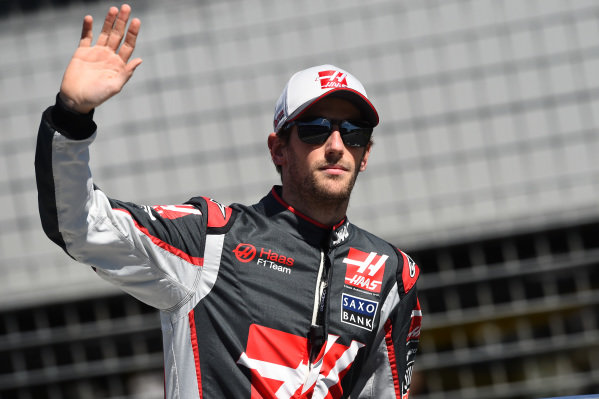 Romain Grosjean (FRA) Haas F1 on the drivers parade at Formula One World Championship, Rd1, Australian Grand Prix, Race, Albert Park, Melbourne, Australia, Sunday 20 March 2016.