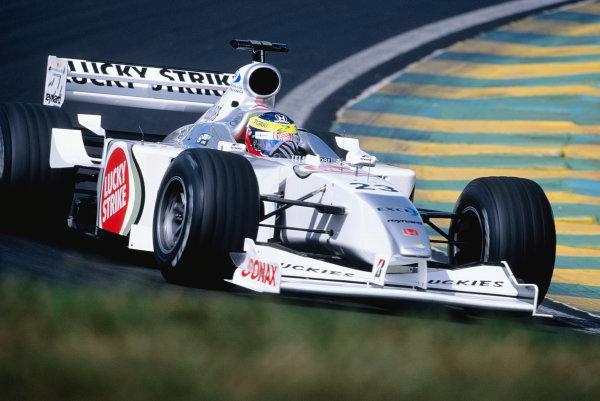 2000 Brazilian Grand Prix.Interlagos, Sao Paulo, Brazil. 24-26 March 2000.Ricardo Zonta (B.A R. 002 Honda) 9th position.Ref-2K BRA 98.World Copyright - Charles Coates/LAT Photographic