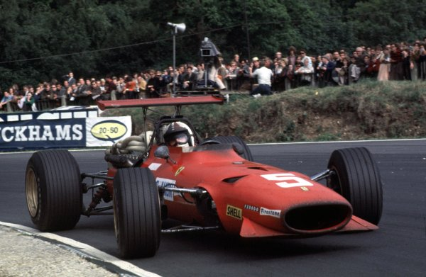 1968 British Grand Prix.Brands Hatch, England.18-20 July 1968.Chris Amon (Ferrari 312) 2nd position.Ref-68 GB 33.World Copyright - LAT Photographic