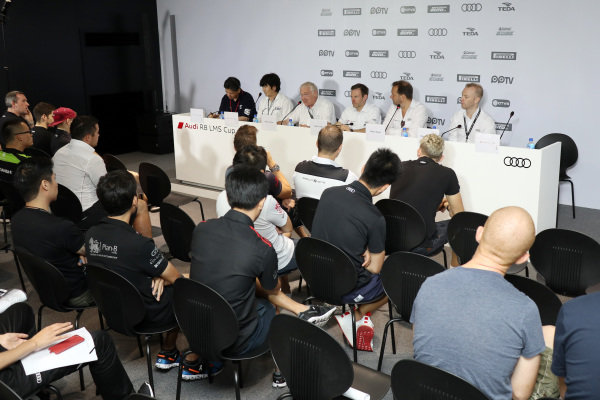 Press Conference at Audi R8 LMS Cup, Rd5 and Rd6, Korea International Circuit, Yeongam, South Korea, 14-16 July 2017.
