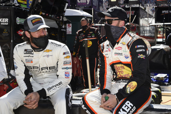 #7: Corey LaJoie, Spire Motorsports, Chevrolet Camaro NASCAR Trucks at Knoxville, #3: Austin Dillon, Richard Childress Racing, Chevrolet Camaro Bass Pro Shops/Tracker Off Road