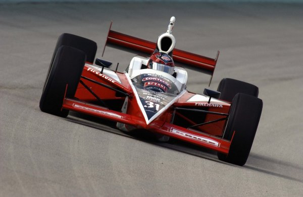 2003 IRL IndyCar Homestead, 2/28-3/2,2003, Homestead-Miami Speedway, USA Al Unser,Jr. speeds into three.World Copyright-F Peirce Williams 2003 LAT Photographicref: Digital Image Only