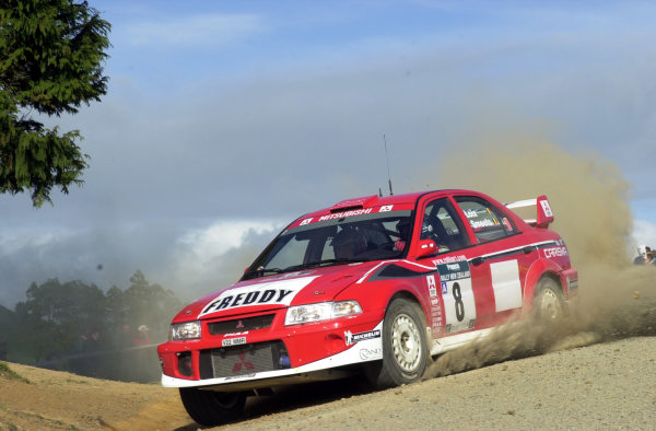 2001 World Rally Championship.Rally of New Zealand. September 20-23, 2001.Auckland, New Zealand.Freddy Loix on stage 1.Photo: Ralph Hardwick/LAT