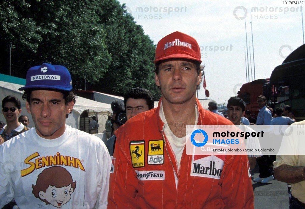 Ayrton Senna and Gerhard Berger.