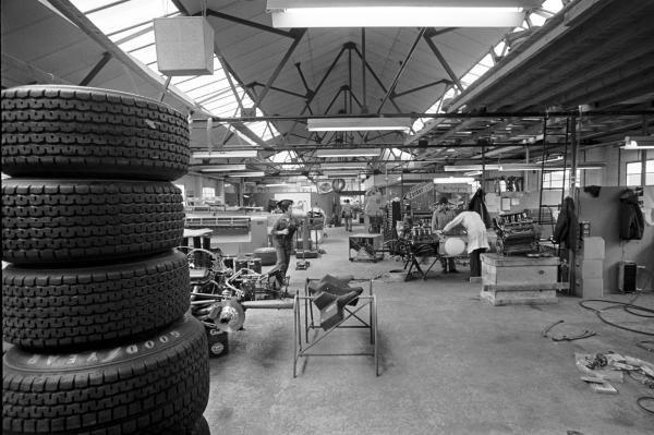 The Mclaren factory Colnbrook, England, 1970