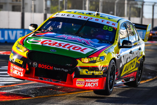 2016 Supercars Championship Round 12.  Gold Coast 600, Surfers Paradise, Queensland, Australia. Thursday 21st October to Sunday 23rd October 2016. Chaz Mostert drives the #55 Supercheap Auto Racing Ford Falcon FGX. World Copyright: Daniel Kalisz/LAT Photographic Ref: Digital Image 211016_VASCR12_GOLDCOAST600_DKIMG_2043.JPG