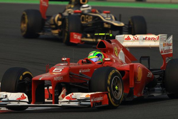 Felipe Massa (BRA) Ferrari F2012. Formula One World Championship, Rd17, Indian Grand Prix, Buddh International Circuit, Greater Noida, New Delhi, India, Race, Sunday 28 October 2012.