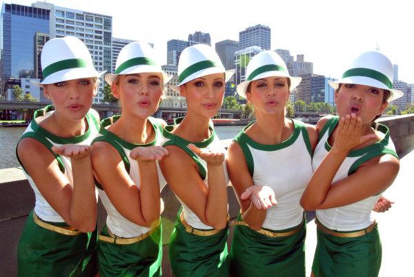 Rolex Grid girls. Formula One World Championship, Rd1, Australian Grand Prix, Preparations, Albert Park, Melbourne, Australia, Tuesday 12 March 2013.