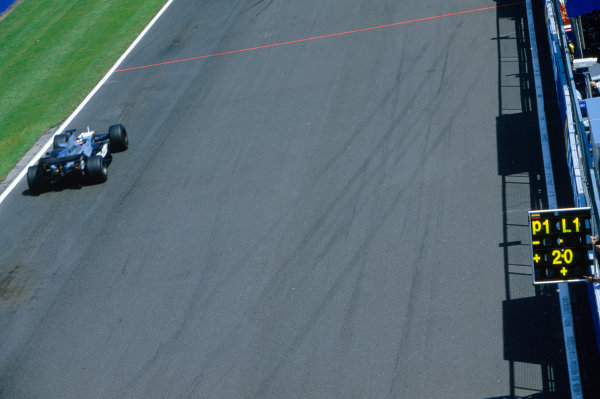 2005 British Grand Prix. Silverstone, England. 8th - 10th July 2005 Juan Pablo Montoya, McLaren Mercedes MP4-20. Action. World Copyright: Steven Tee/LAT PhotographicRef: 35mm Image A24