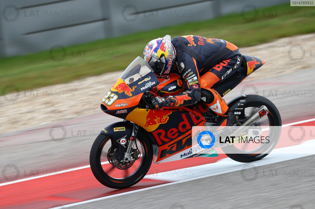 2017 Moto3 Championship - Round 3 Circuit of the Americas, Austin, Texas, USA Saturday 22 April 2017 Niccolo Antonelli, Red Bull KTM Ajo World Copyright: Gold and Goose Photography/LAT Images ref: Digital Image Moto3-Q-500-2257