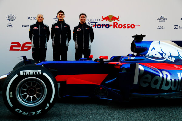Toro Rosso STR12 Formula 1 Launch. Barcelona, Spain  Sunday 26 February 2017.  World Copyright: Dunbar/LAT Images Ref: _X4I9966