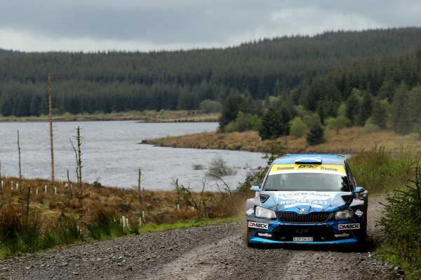 2017 Prestone MSA British Rally Championship,  Scottish Rally, Dumfries. 19th - 20th May 2017. David Bogie / Kevin Rae Skoda Fabia R5. World Copyright: JEP / LAT Images.