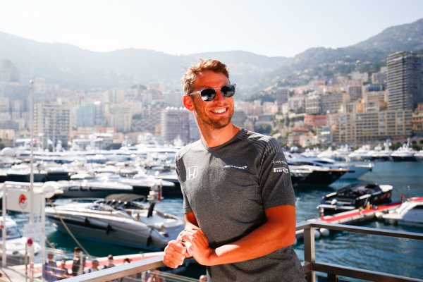 Monte Carlo, Monaco. Wednesday 24 May 2017. Jenson Button, McLaren World Copyright: Andy Hone/LAT Images ref: Digital Image _ONY7225