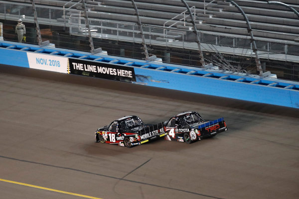 NASCAR Camping World Truck Series  Lucas Oil 150 Phoenix Raceway, Avondale, AZ USA Friday 10 November 2017 Christopher Bell, JBL Toyota Tundra, Noah Gragson, Switch Toyota Tundra World Copyright: Michael L. Levitt LAT Images