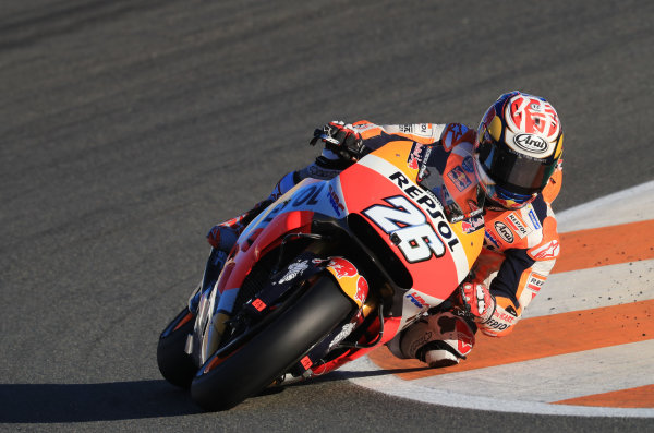 2017 MotoGP Championship - Valencia test, Spain. Tuesday 14 November 2017 Dani Pedrosa, Repsol Honda Team World Copyright: Gold and Goose / LAT Images ref: Digital Image MotoGP2017-ValenciaTest-Day1-1334