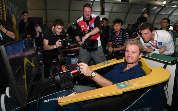 2017/2018 FIA Formula E Championship. Round 1 - Hong Kong, China. Saturday 02 December 2017. Nico Rosberg Photo: Sam Bagnall/LAT/Formula E ref: Digital Image SB1_6084