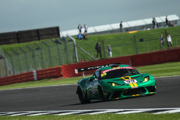 2017 British GT Championship, Silverstone, 11th-12th June 2017, Stuart Hall / Gavan Kershaw Stratton Motorsport Lotus Evora. World copyright. JEP/LAT Images