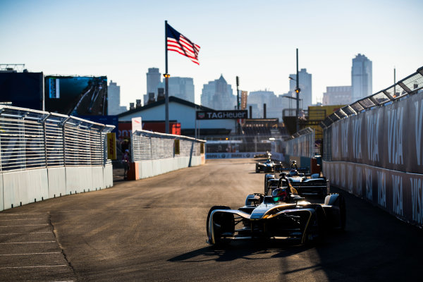 2016/2017 FIA Formula E Championship. Round 10 - New York City ePrix, Brooklyn, New York, USA. Sunday 16 July 2017. Jean-Eric Vergne (FRA), Techeetah, Spark-Renault, Renault Z.E 16. Photo: Sam Bloxham/LAT/Formula E ref: Digital Image _J6I4157