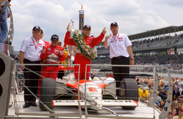87th Indianapolis 500, Indianapolis Motor Speedway, Speedway, Indiana, USA 25 May,2003Thumbs up for Team Penske.World Copyright-F Peirce Williams 2003 LAT Photographicref: Digital Image Only