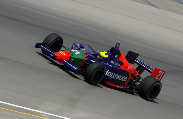 IRL IndyCar Series Delphi Indy 300, Chicagoland Speedway, Joilet,Illinois,USA 7 September,2003 Felipe Giaffone returns to the cockpit.World Copyright-F Peirce Williams 2003 LAT Photographicref: Digital Image Only