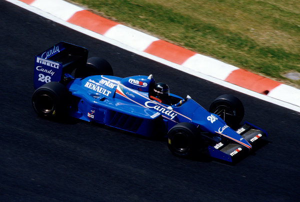 1985 Belgian Grand Prix. Spa-Francorchamps, Belgium. 2 June 1985. Jacques Laffite (Ligier JS25 Renault) in action before the race was cancelled after practice when the newly-laid track broke up. Ref-85 BEL 37. World Copyright - LAT Photographic