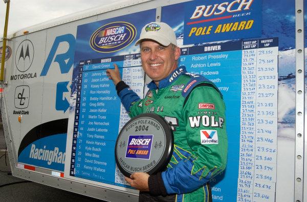 04-06 June, 2004, Busch Series, Dover International Speedway, USA,David Green wins pole,Copyright-Robt LeSieur 2004 USALAT Photographic