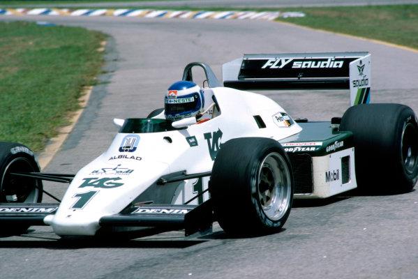 1983 Brazilian Grand Prix.Rio de Janeiro, Brazil. 13 March 1983.Keke Rosberg (Williams FW08C-Ford Cosworth).World Copyright: LAT Photographic
