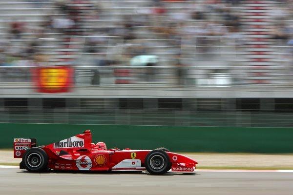 Michael Schumacher (GER) Ferrari F2004.Formula One World Championship, Rd16, Chinese Grand Prix, Practice Day, Shanghai, China, 24 September 2004.DIGITAL IMAGE