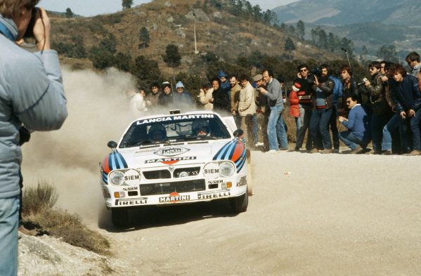 1984 World Rally Championship. Tour de Corse. Ajaccio, Corisca, France.  3rd May - 5th May 1984. Rd 5.  Attilio Bettega / Sergio Cresto (Lancia Rally 037 evo), 7th position overall, action.  World Copyright: LAT Photographic.