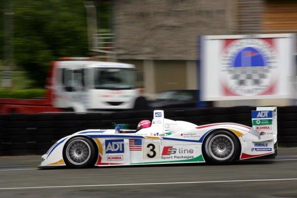 Marco Werner (GER) Champion Racing Audi R8.Le Mans Test Day, Le Mans, France, 5 June 2005.DIGITAL IMAGE