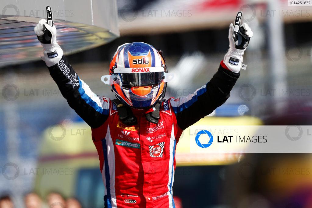 2014 GP3 Series. Round 8.  Sochi Autodrom, Sochi, Russia.  Sunday Race 2 12 October 2014.  Patric Niederhauser (SUI, Arden International) celebrates in Parc Ferme. Photo: Sam Bloxham/GP3 Series Media Service.  ref: Digital Image _SBL0409