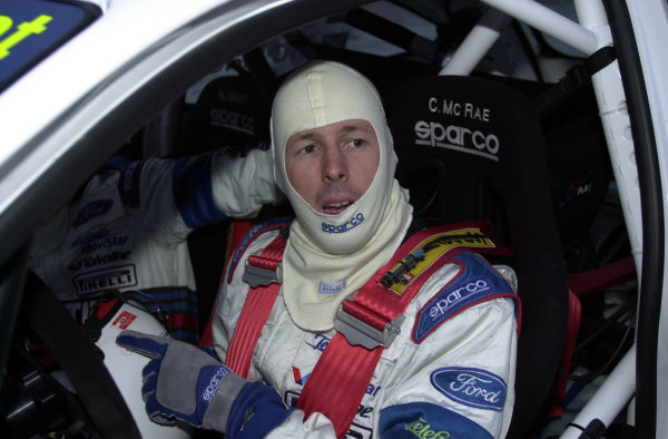 2001 World Rally Championship.   Swedish Rally. 9th - 11th February 2001. Rd 2. Colin McRae at the wheel of his Ford Focus RS WRC. World Copyright: Ralph Hardwick/ LAT Photographic. Ref: Colin
