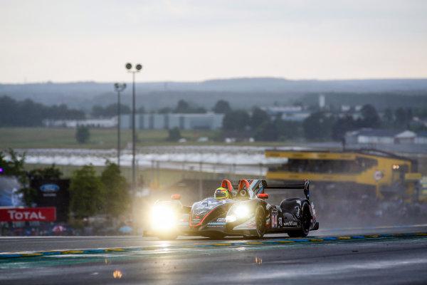 2016 Le Mans 24 Hours. Circuit de la Sarthe, Le Mans, France. SRT41 By Oak Racing / Morgan LMP2 - Nissan - Frederic Sausset (FRA), Christophe Tinseau (FRA), Jean-Bernard Bouvet (FRA).  Thursday 16 June 2016 Photo: Adam Warner / LAT ref: Digital Image _L5R3572