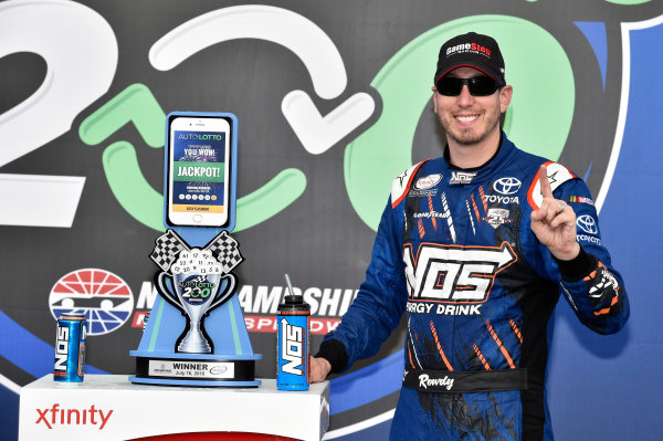 15-16 July, 2016, Loudon, New Hampshire USA Kyle Busch, NOS Energy Drink Toyota Camry celebrates his win in Victory Lane ?2015, Nigel Kinrade LAT Photo USA