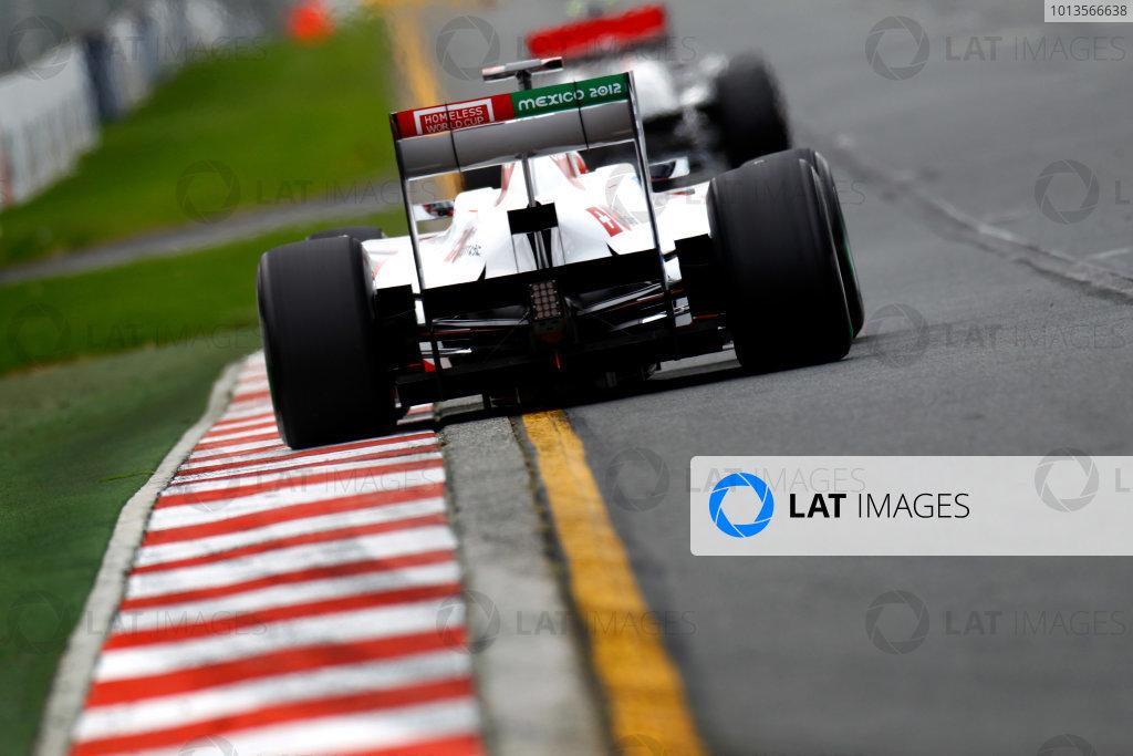 Albert Park, Melbourne, Australia 25th March 2011. Kamui Kobayashi, Sauber C30 Ferrari. Action.  World Copyright: Glenn Dunbar/LAT Photographic ref: Digital Image _G7C3163