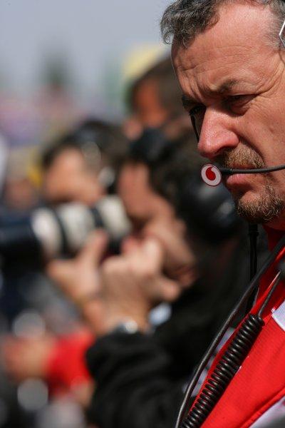 2006 European Grand Prix - Saturday Qualifying Nurburgring, Germany. 4th - 7th May 2006 Nigel Stepney, Ferrari Chief Mechanic. Portrait. World Copyright: Lorenzo Bellanca/LAT Photographic ref: Digital Image ZD2J0229