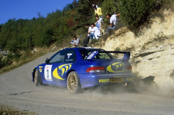 1997 World Rally Championship.Sanremo Rally, Italy. 13-15 October 1997.Colin McRae/Nicky Grist (Subaru Impreza WRC), 1st position.World Copyright: LAT PhotographicRef: 35mm transparency 97RALLY09