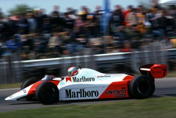 Race winner John Watson (GBR), McLaren MP4B. Formula One World Championship, Rd5, Belgian Grand Prix, Zolder, Belgium, 9 May 1982. BEST IMAGE