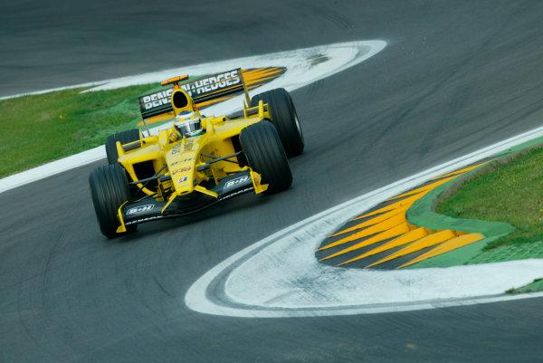 2003 San Marino Grand Prix - Saturday 2nd Qualifying,Imola, Italy.19th April 2003.Giancarlo Fisichella, Jordan Ford EJ13, action.World Copyright LAT Photographic.ref: Digital Image Only.