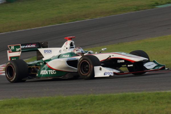2016 Japanese Super Formula. Sugo, Japan. 24th - 25th September 2016. Rd 6. 2nd position Daisuke Nakajima ( #64 GREEN TEC/NAKAJIMA SF14 ) action World Copyright : Yasushi Ishihara/LAT Photographic Ref : 2016SF_Rd6_SUGO_013