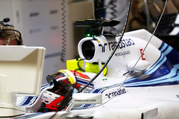 Yas Marina Circuit, Abu Dhabi, United Arab Emirates. Wednesday 26 November 2014. Felipe Nasr, Williams FW36 Mercedes.  World Copyright: Sam Bloxham/LAT Photographic. ref: Digital Image _SBL9419